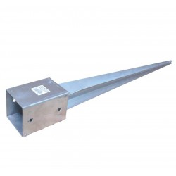 suport stalp tip V pt pamant-91*91*750*2.0mm-ZA/1 buc