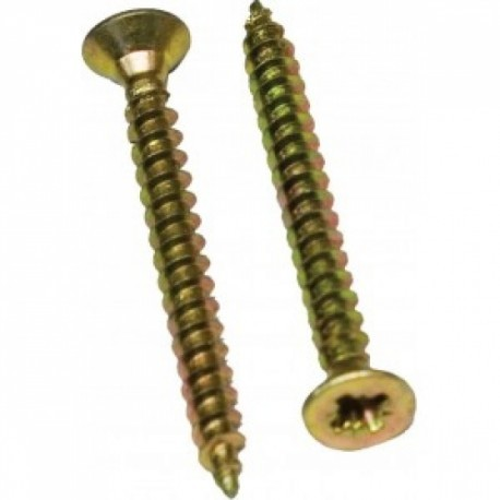 Suruburi PAL si lemn cu cap inecat 4.5 mm zincat galben